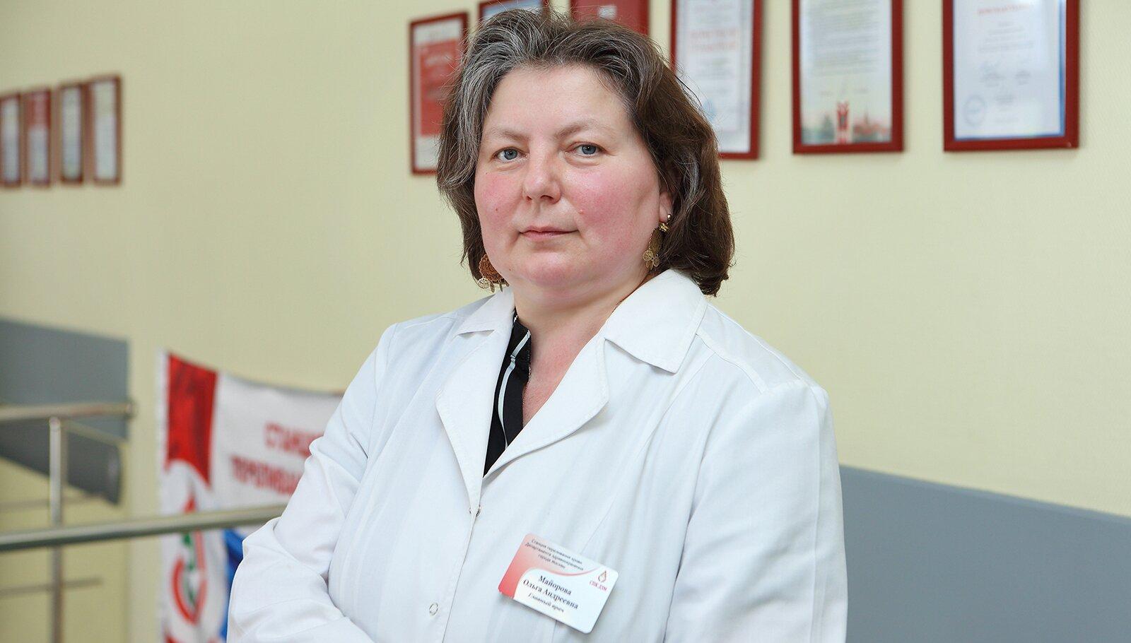 Ольга Майорова, главный врач Центра крови имени О.К. Гаврилова