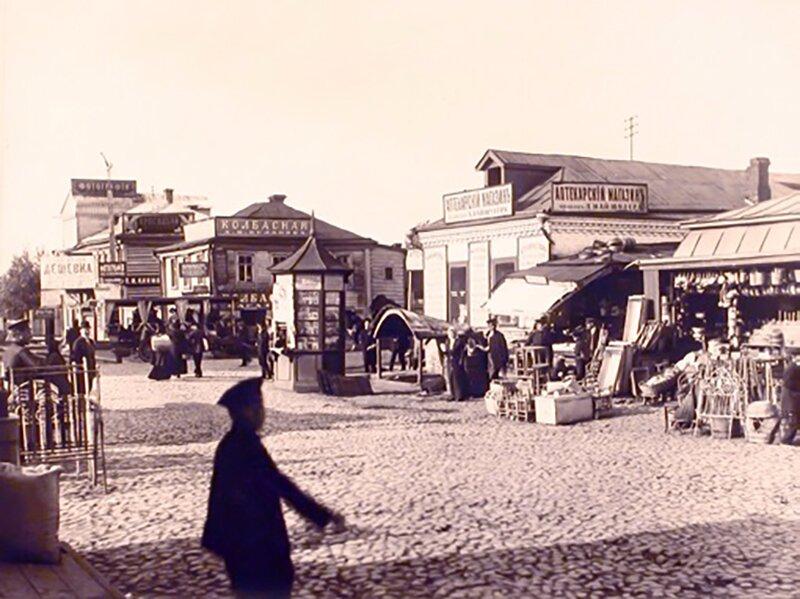 Торговые ряды в Марьиной Роще. 1913год. Главархив Москвы