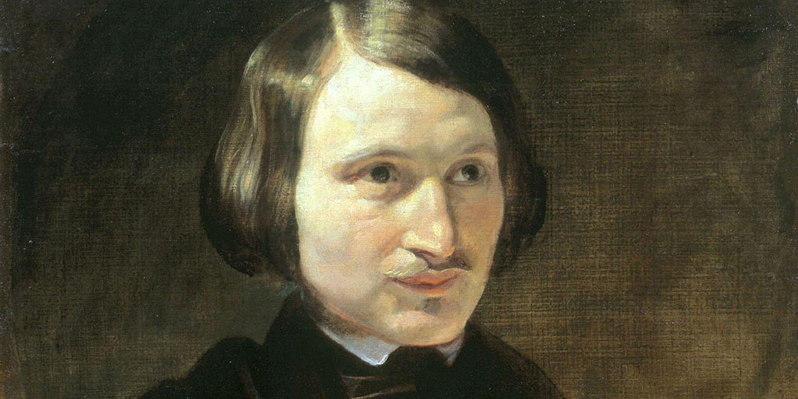 Ф. Моллер. Портрет Н. Гоголя. Фрагмент. 1841 год