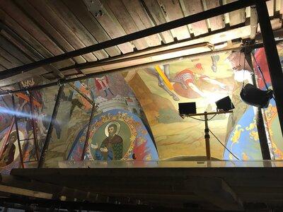 Восстановление живописи церкви Знамения Иконы Божией Матери за Петровскими воротами завершено на две трети