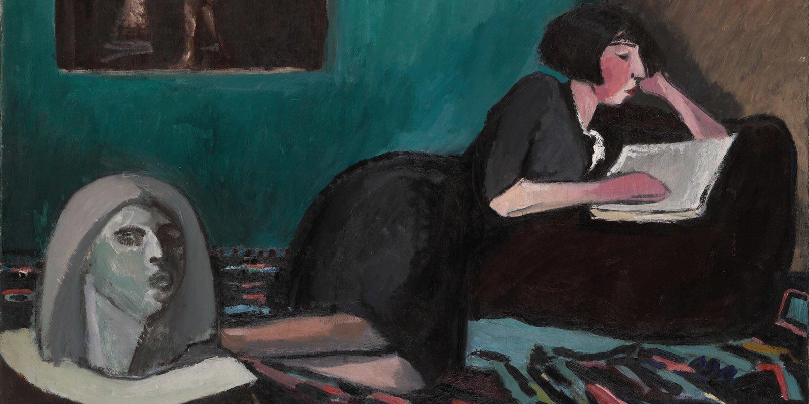 К. Истомин. Читающая женщина. Фрагмент. 1931 год