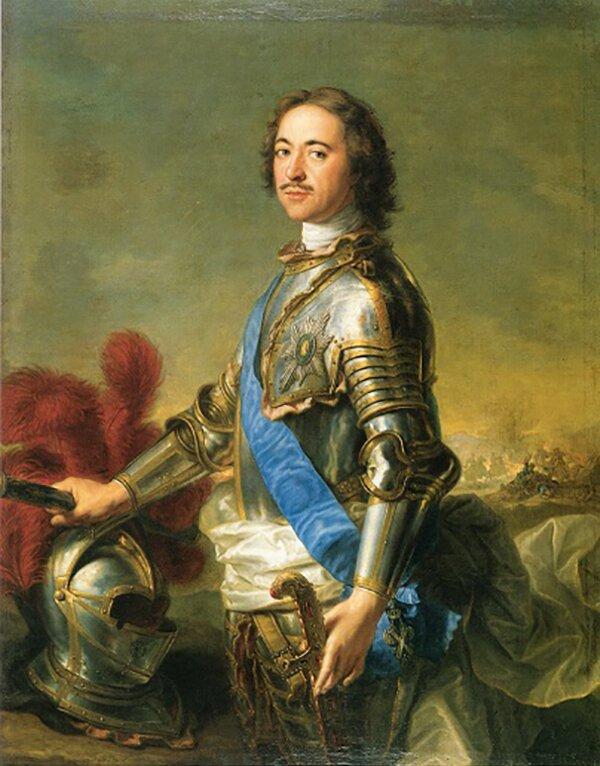 Jean-Marc Nattier. Portrait of Tsar Peter I the Great. 1717
