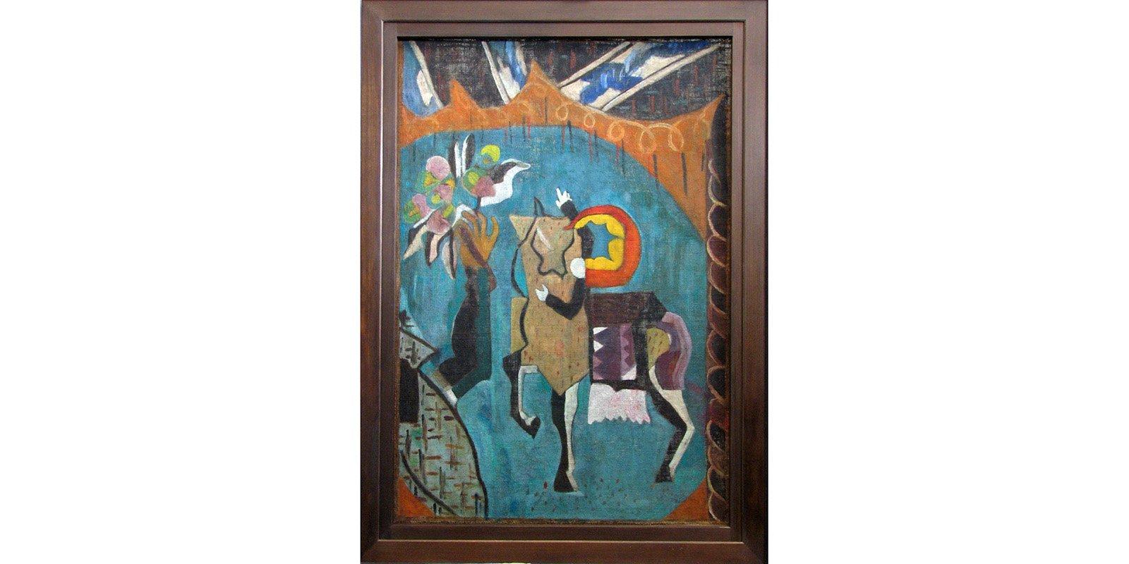 K. Zdanevich. Acrobat on a Horseback