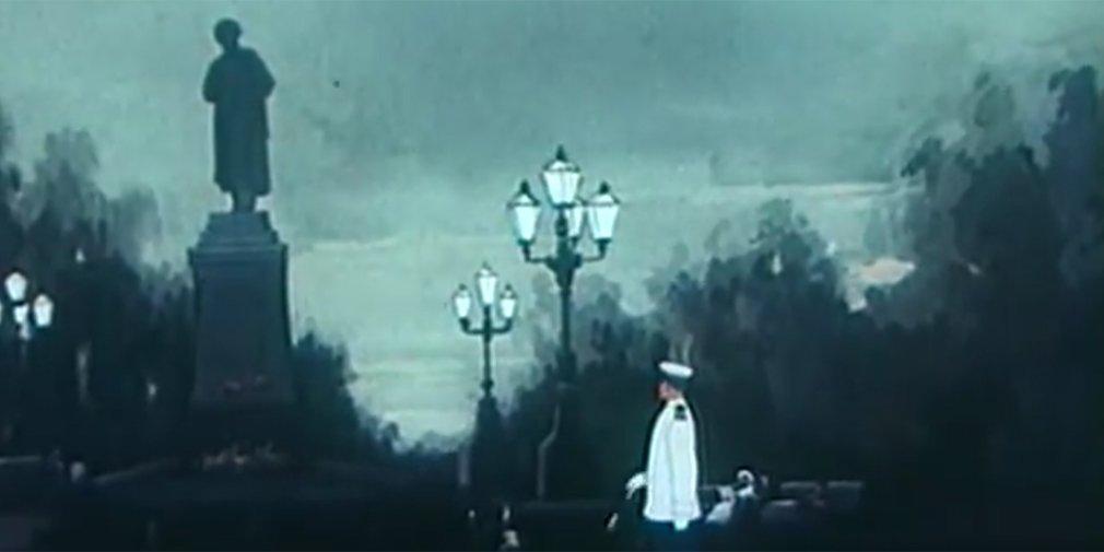Кадр из мультфильма «Полет на Луну». Режиссеры Зинаида Брумберг, Валентина Брумберг. 1953 год