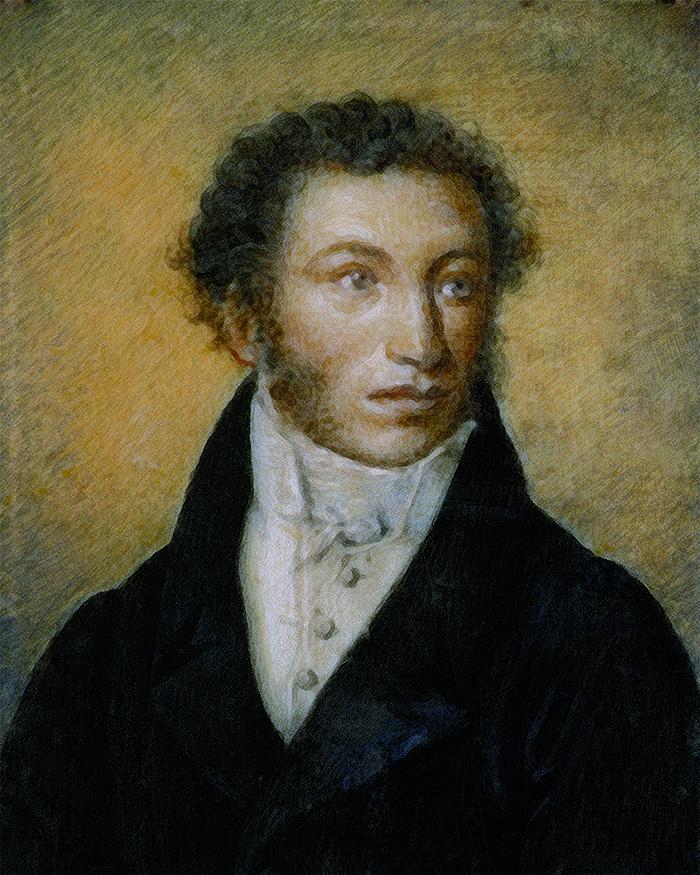 И. Вивьен де Шатобрен. Портрет А.С. Пушкина. 1826 год