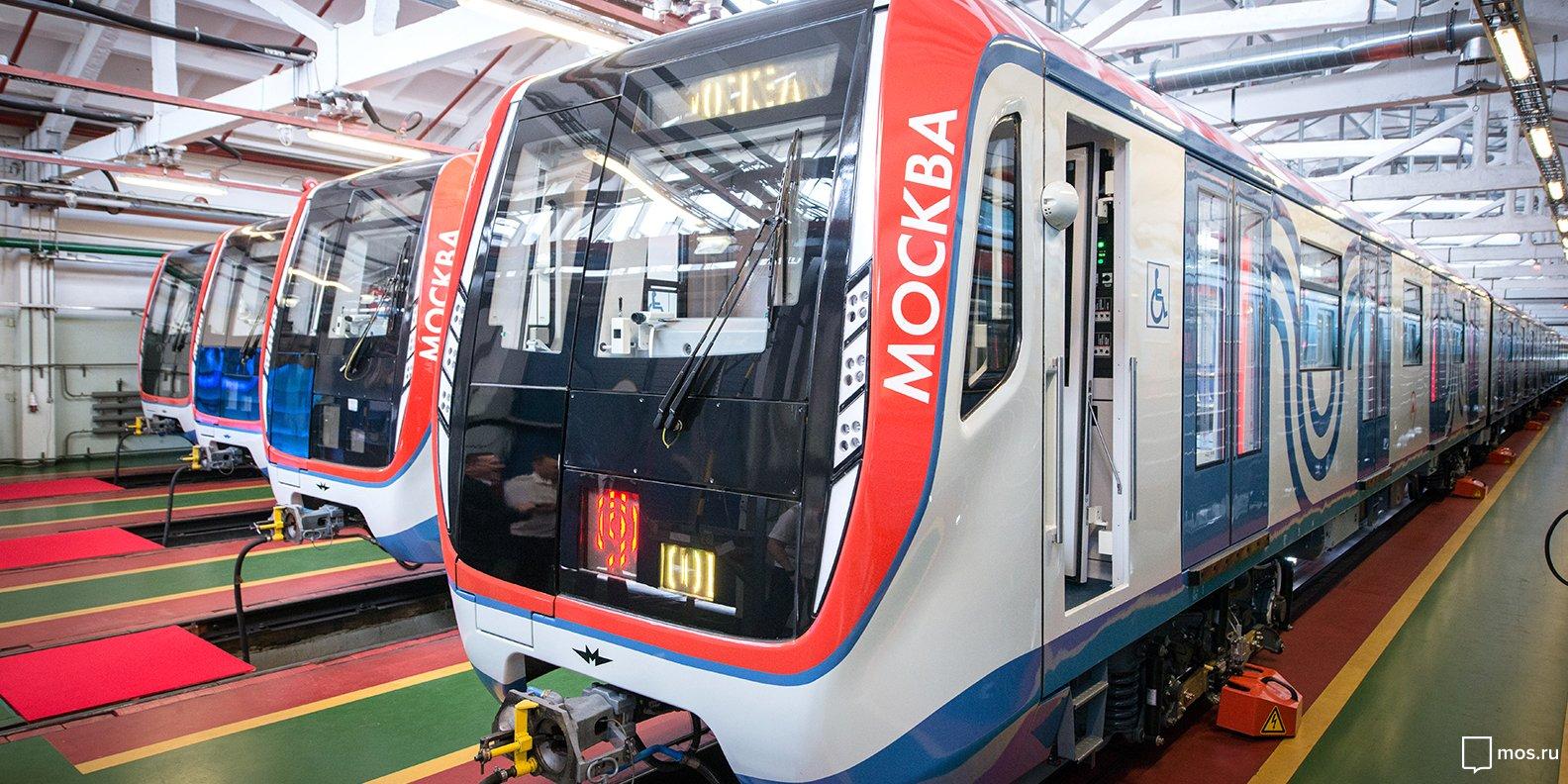 На фиолетовой линии запустят еще 33 поезда «Москва»