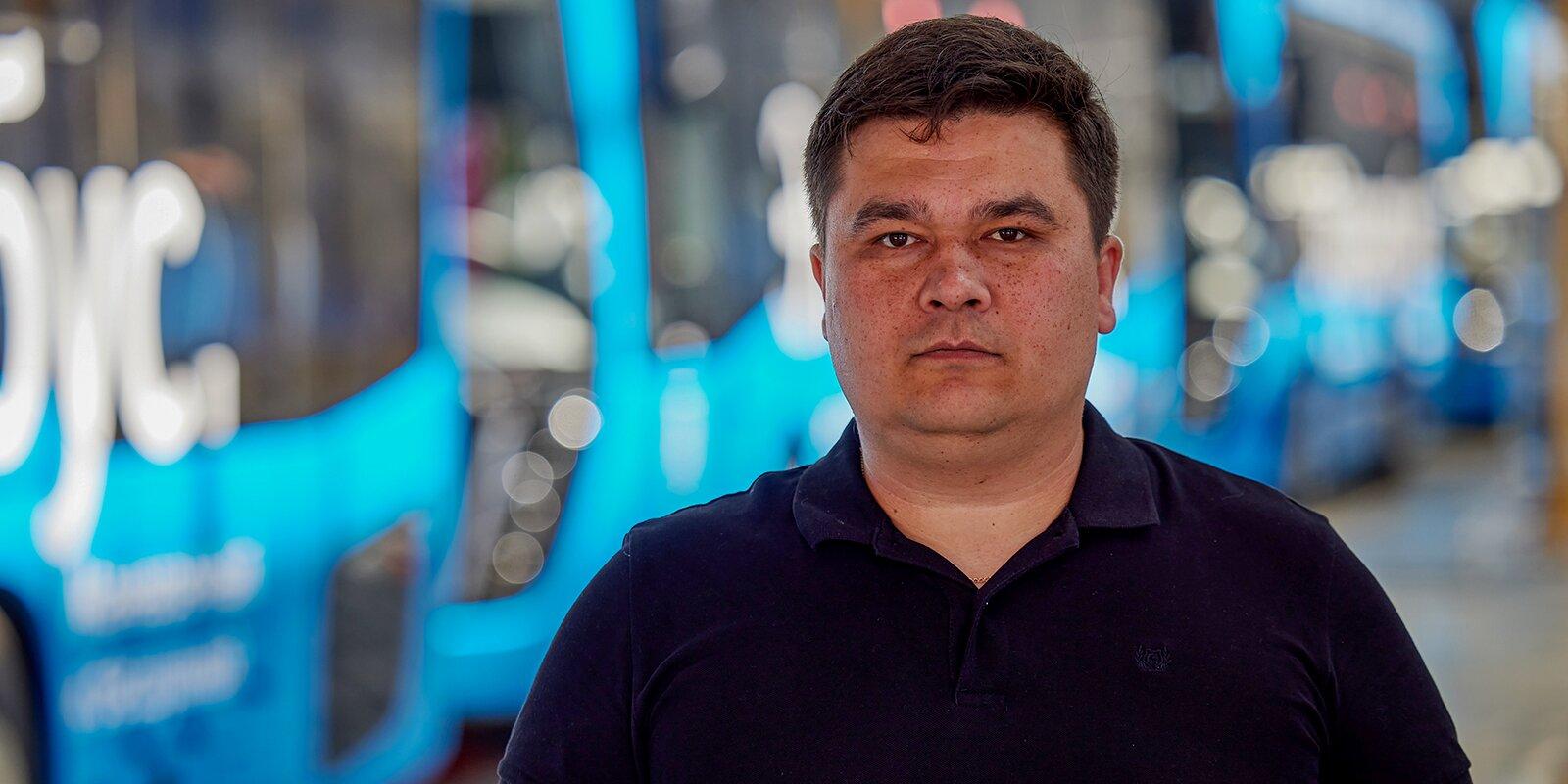 Marsel Mingaliev, Director of Electric Transport Production, NEFAZ PJSC. Photo by Maxim Denisov, Mos.ru