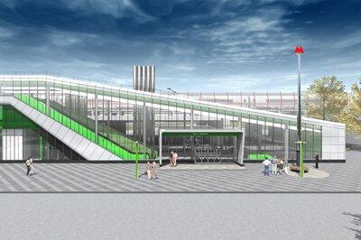 Как строят северный вестибюль станции «Окружная»