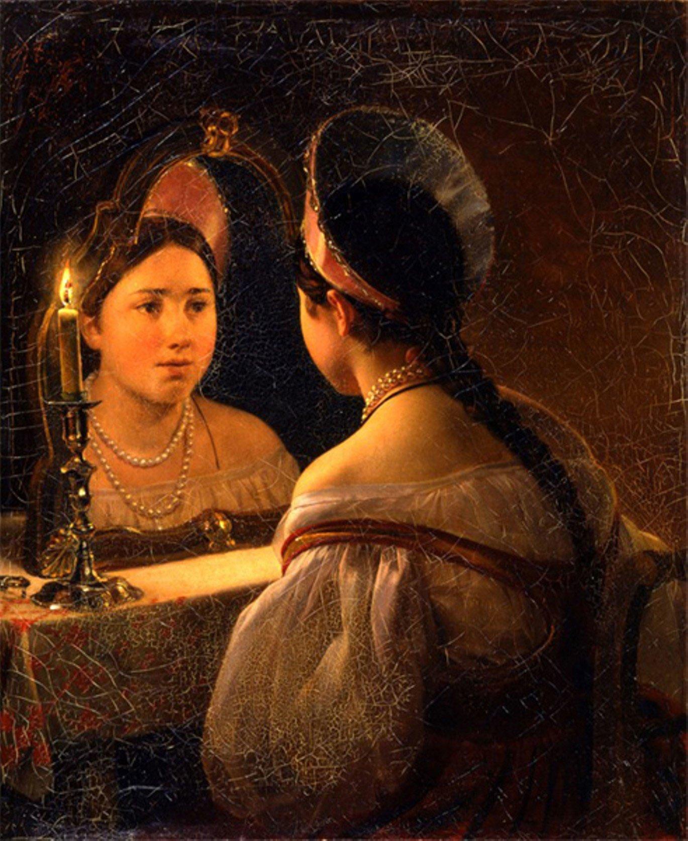 К. Брюллов. Гадающая Светлана. 1853 год