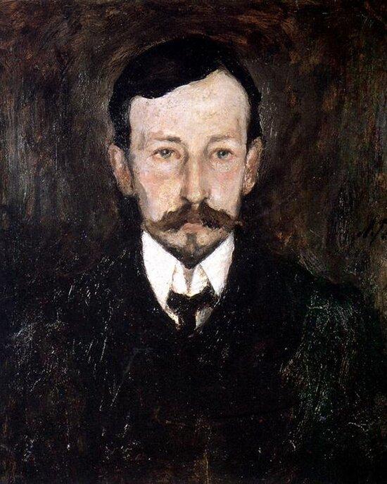 Л. Туржанский. Портрет Ивана Бунина. 1905 год