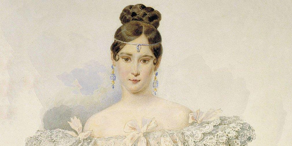 А.П. Брюллов. Портрет Н.Н. Пушкиной. 1831-1832 годы
