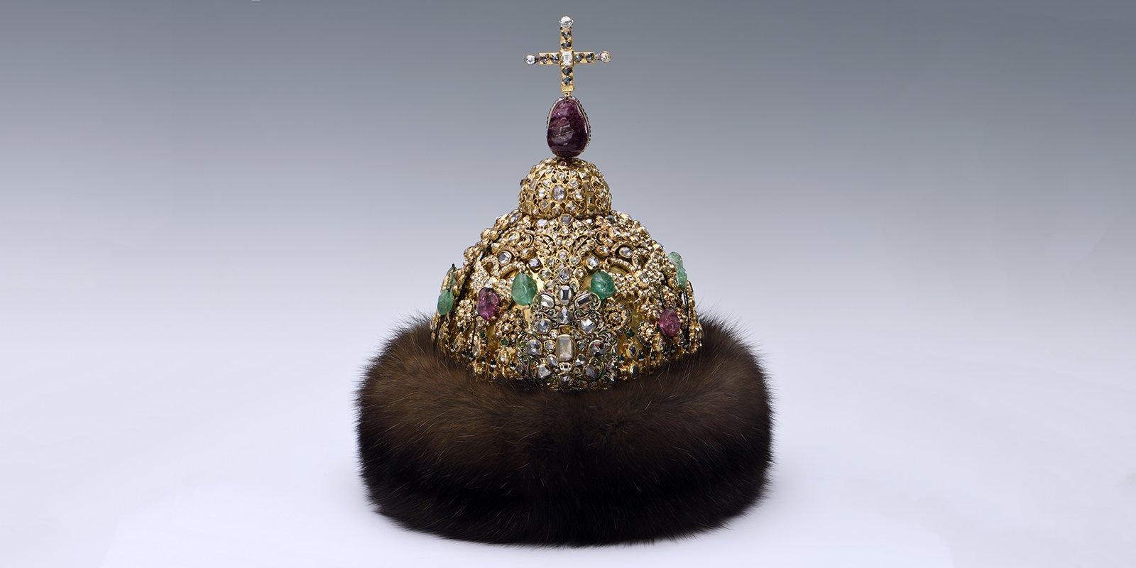 Алмазная шапка царя Петра Алексеевича. Мастерские Московского Кремля. 1680-е годы
