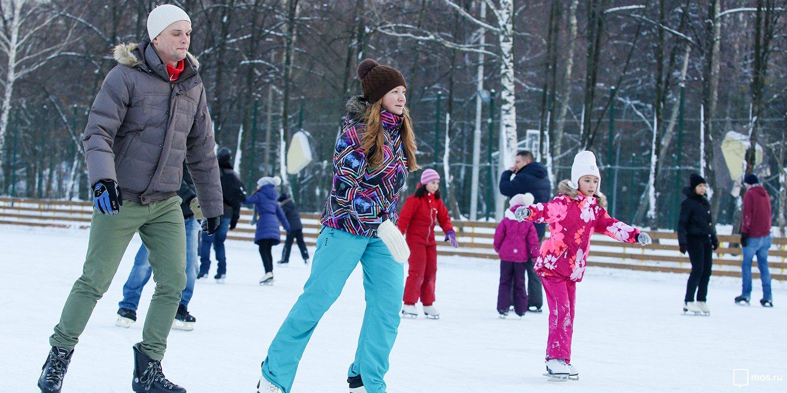 В каких парках можно покататься на коньках до 1 апреля