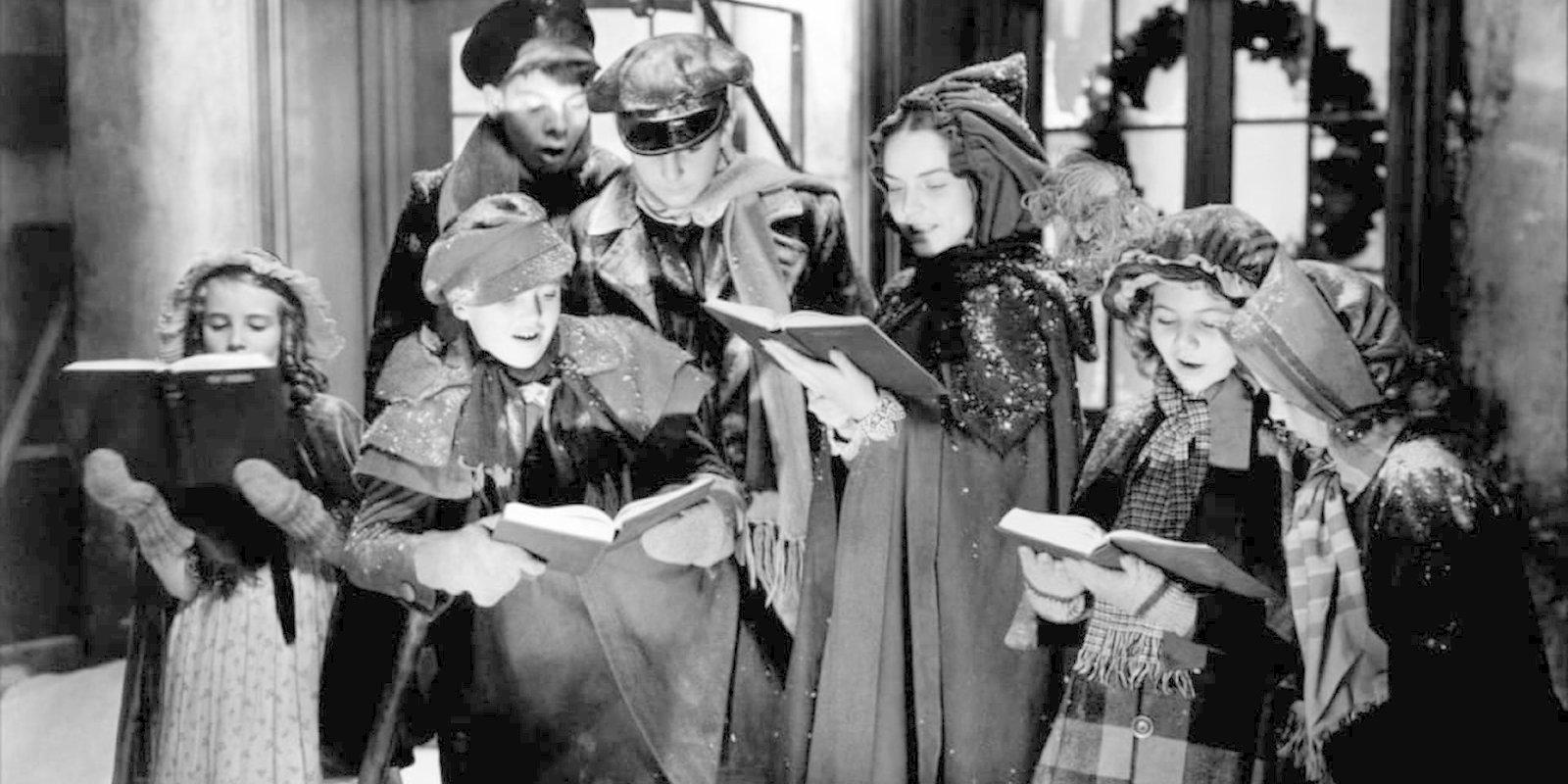 Кадр из фильма «Рождественский гимн». Режиссер Эдвин Л. Марин. 1938 год