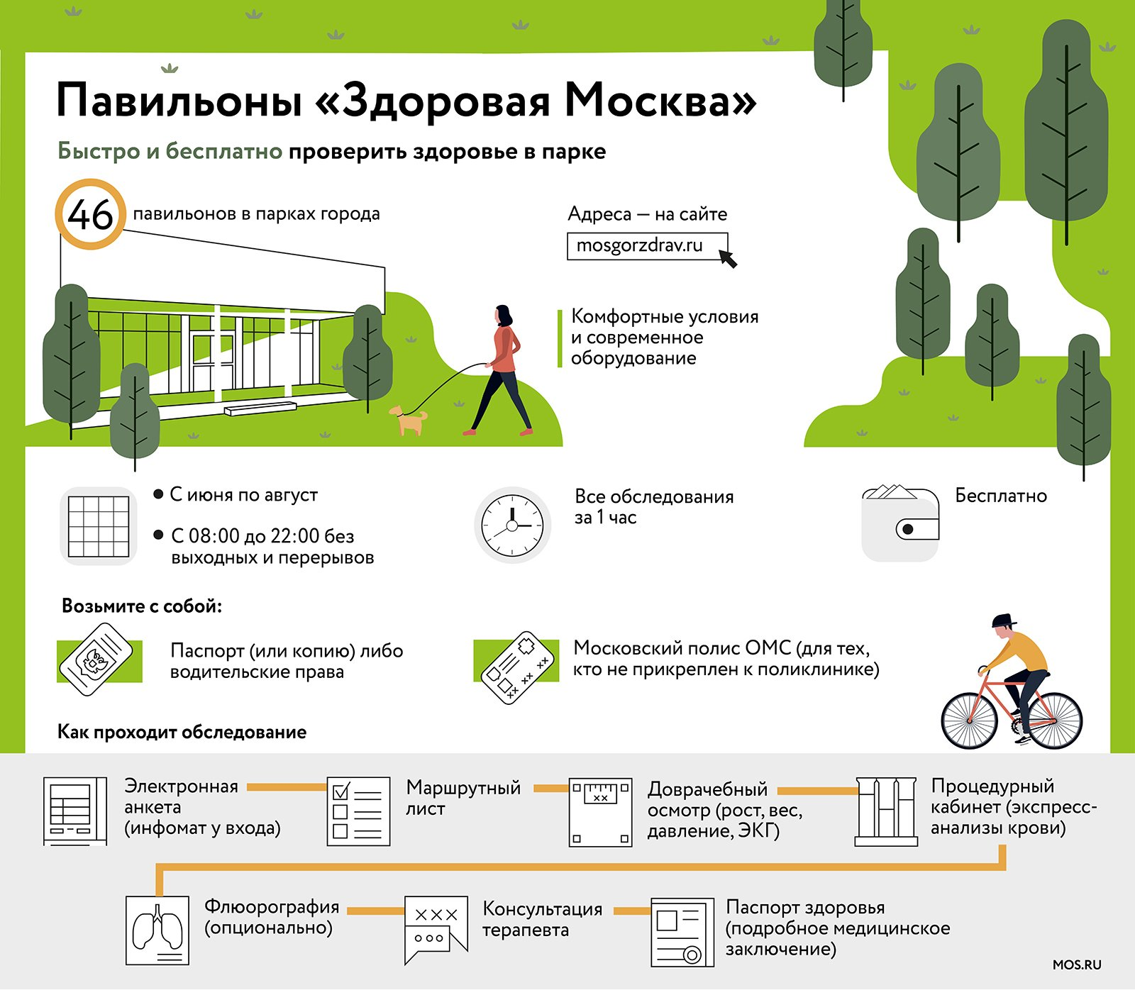 Check health in parks: all 46 Healthy Moscow pavilions earned in the city