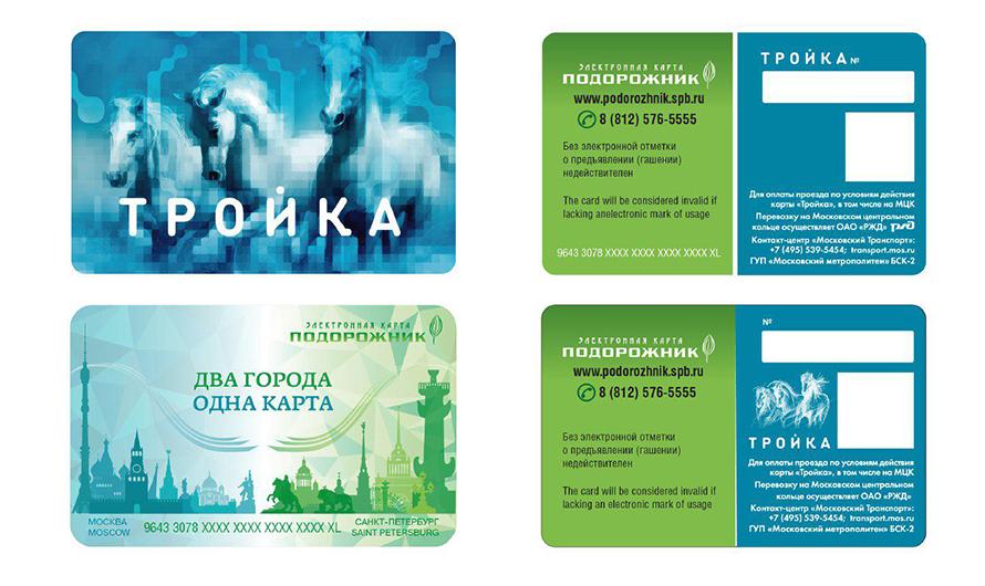 la carta per i mezzi pubblici Podorozhnik Troika