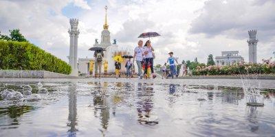Жаркая погода и кратковременные дожди ожидаются в столице на неделе