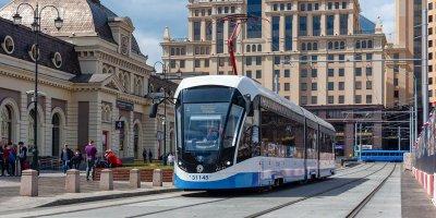 Маршруты трамваев изменились после переноса путей у Павелецкого вокзала
