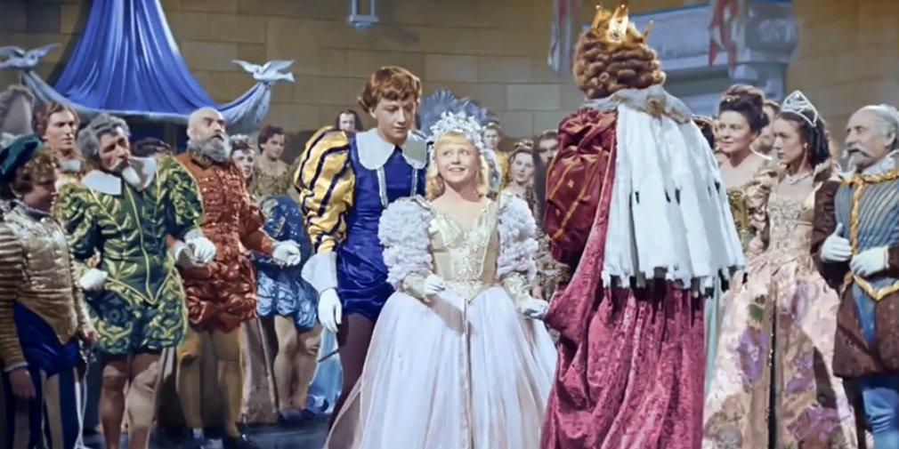 Кадр из фильма «Золушка». Режиссеры Надежда Кошеверова, Михаил Шапиро. 1947 год