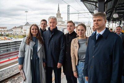 Сергей Собянин осмотрел итоги работ по улучшению дорожного движения на Комсомольской площади