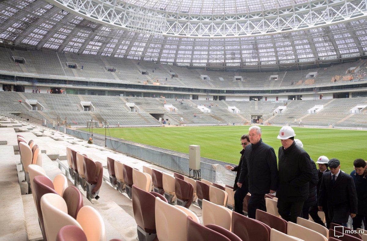 Собянин: На стадионе «Лужники» завершены работы по созданию газона/ Фото: mos.ru