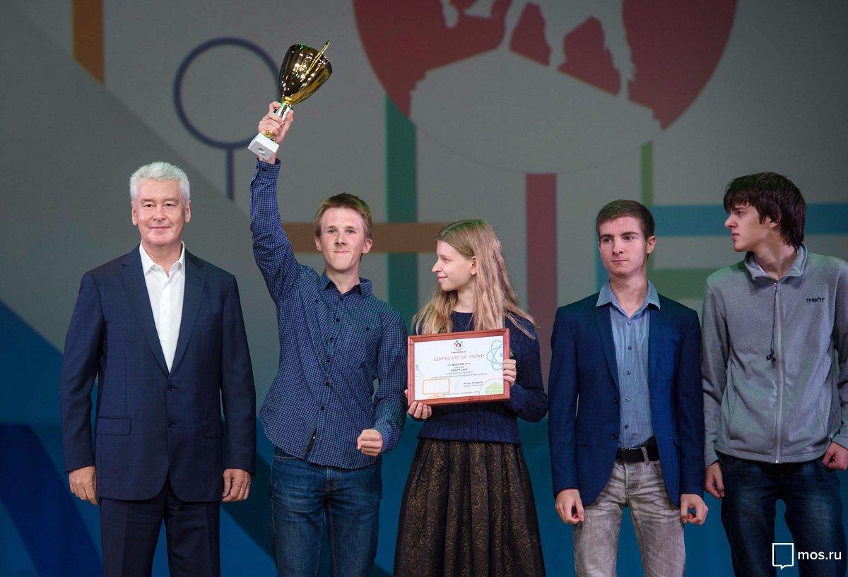 Собянин, Мэр Москвы, Правительство Москвы, Школьники, Олимпиада, Соревнования, Образование